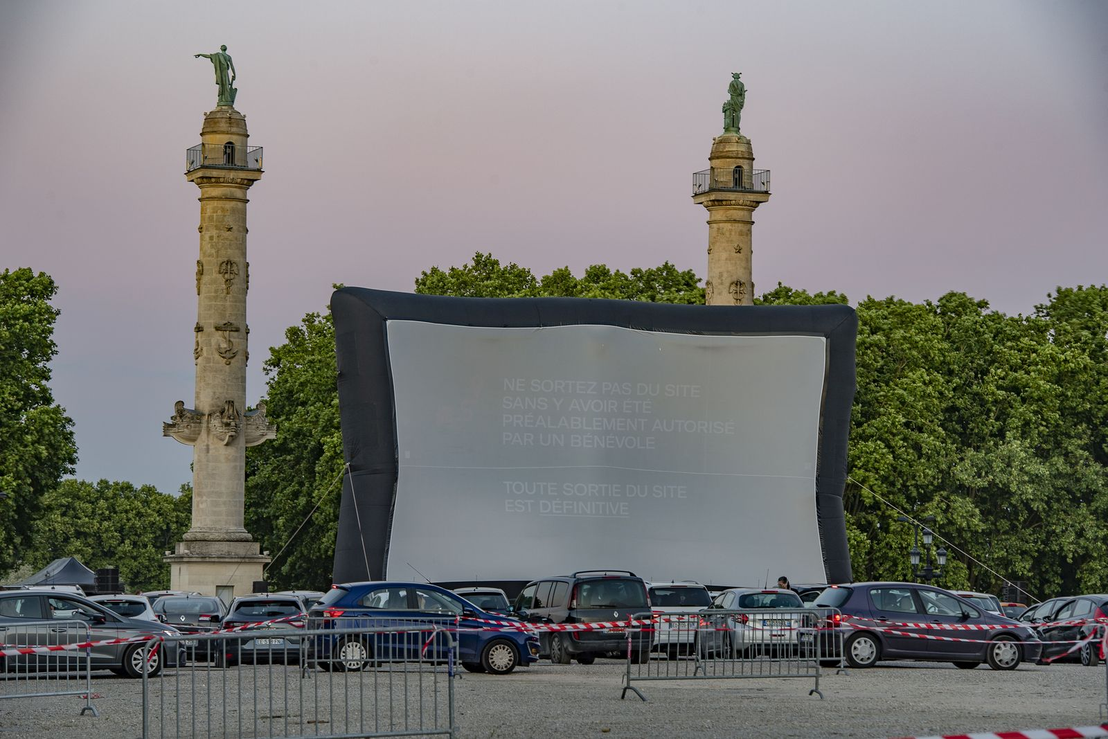 Drive-In Festival amid coronavirus pandemic in France, Bordeaux - 16 May 2020