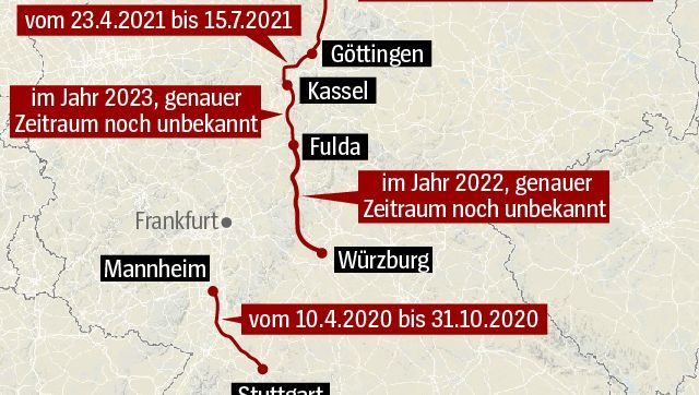 Deutsche Bahn Diese Ice Strecken Will Die Bahn Sperren Der Spiegel