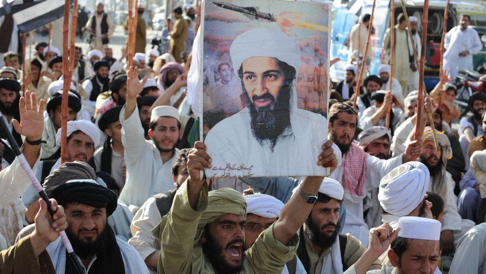 Taliban-Anhänger in Quetta protestieren gegen die Tötung Bin Ladens durch US-Elitesoldaten (Mai 2011)