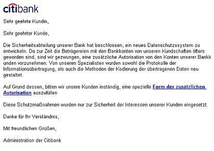 Aktuelle Phishing-Mail: Optisch überzeugend, sprachlich ein Witz
