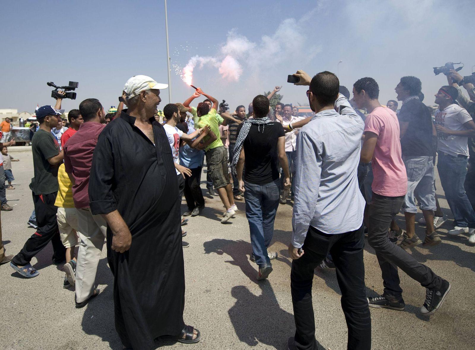 EINMALIGE VERWENDUNG Ägypten/ Kairo/ Demonstration/ Arabischer Frühling/ 2011