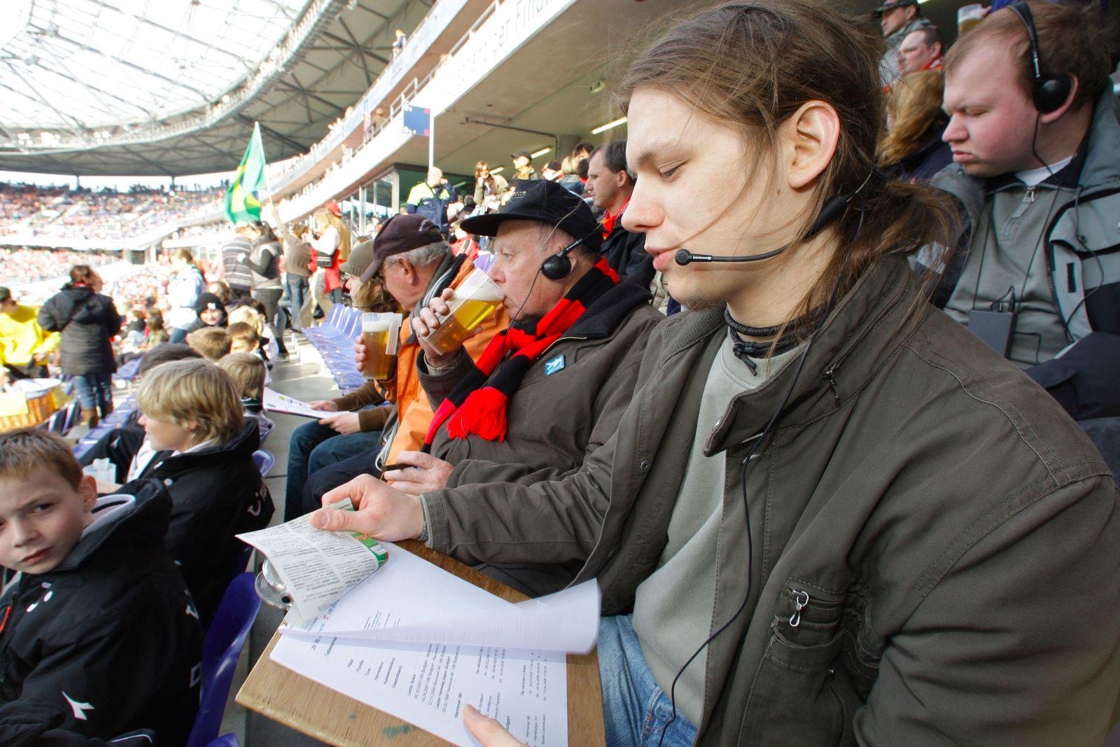 Bundesliga für Blinde über Kopfhörer