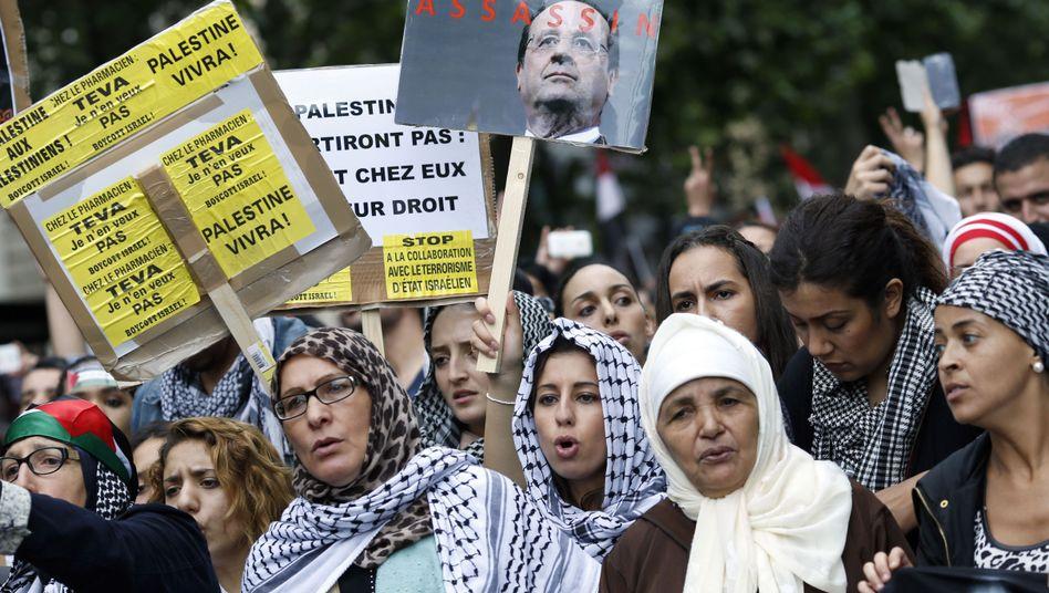 Protest in Paris gegen Israels Kurs in Gaza: Erst friedliche Demo, dann Ausschreitungen