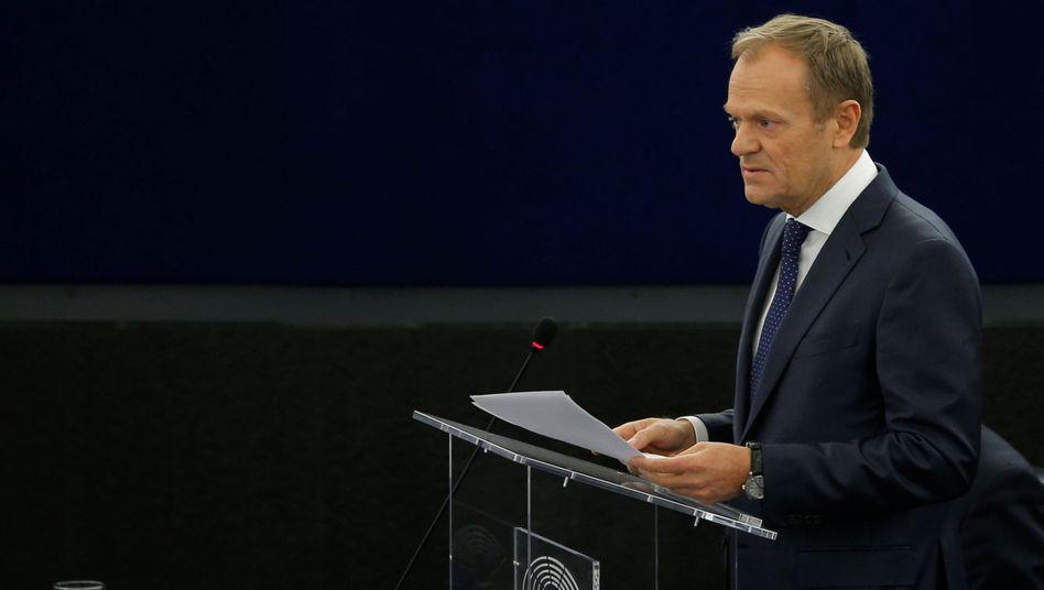 Er versucht, den harten Brexit aufzuhalten: EU-Ratspräsident Donald Tusk