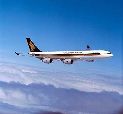Singapore Airlines Airbus A340-500: Erster Direktflug Singapur - New York