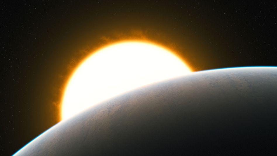 Exoplanet HD209485b (Illustration): Kohlenmonoxid-Strömungen in der Atmosphäre
