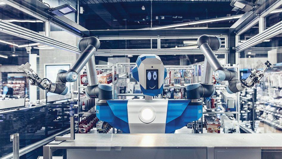 Serviceroboter Alex in Berliner Elektrofachmarkt: Verkauf jenseits der Öffnungszeiten