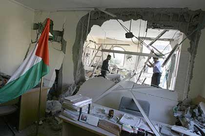 Gaza-Stadt: Eine Rakete zerstörte den Amtssitz von Premier Hanija