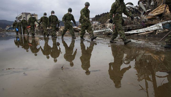 Japan: Trümmerlandschaft im Schnee