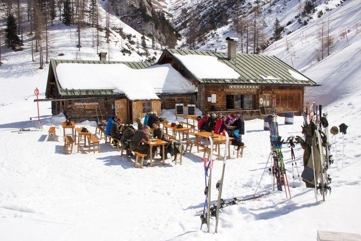 Skihütte Mitterkaseralm im Skigebiet Jenner in Berchtesgaden