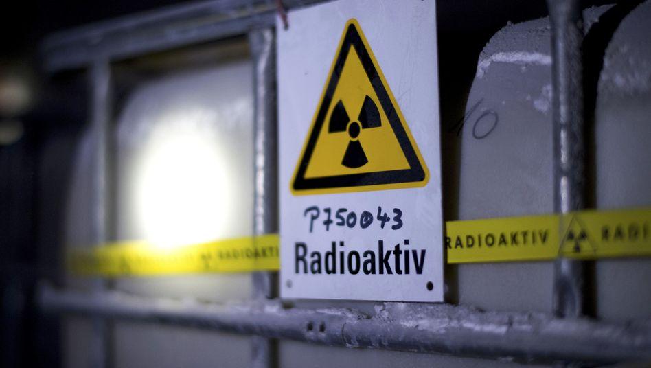 Fässer mit radioaktiver Flüssigkeit in der Schachtanlage Asse, einem ehemaligen Salzbergwerk in Niedersachsen (Archivbild)