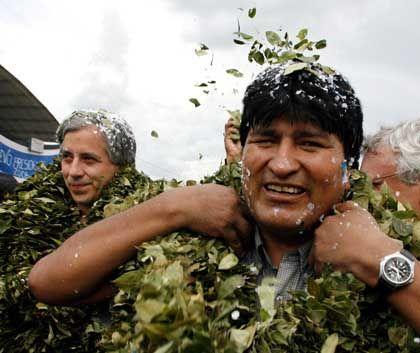 Morales is a former coca farmer.