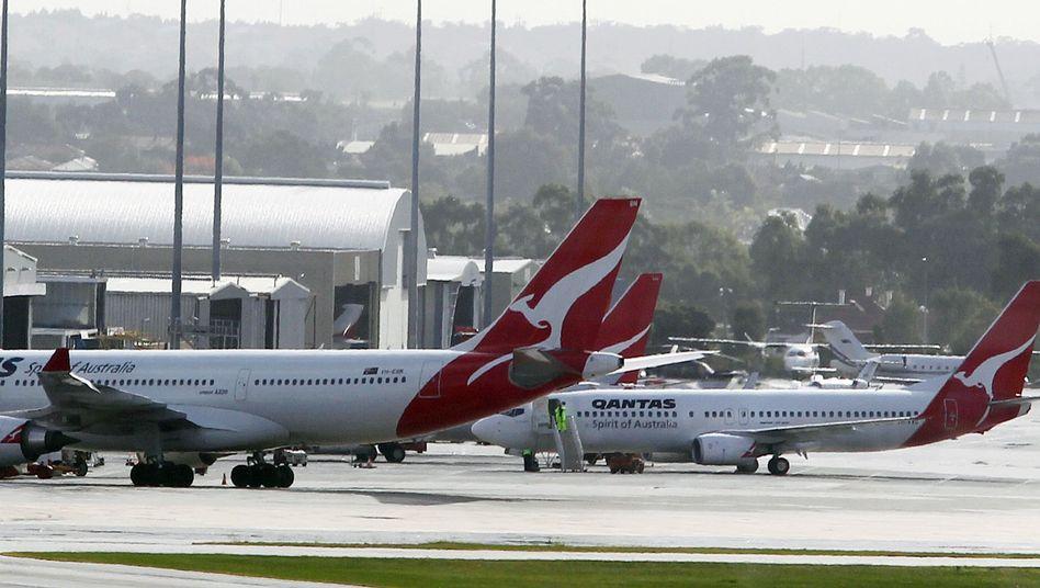 Maschinen von Qantas: Die australische Airline praktiziert die umstrittene Regelung