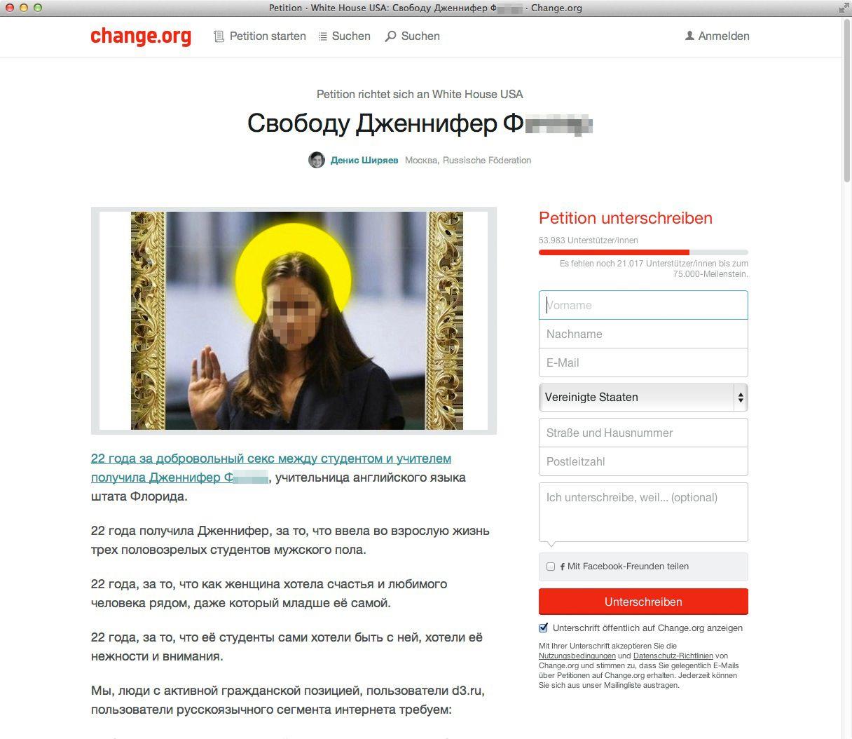 Change.org/ High School Lehrerin