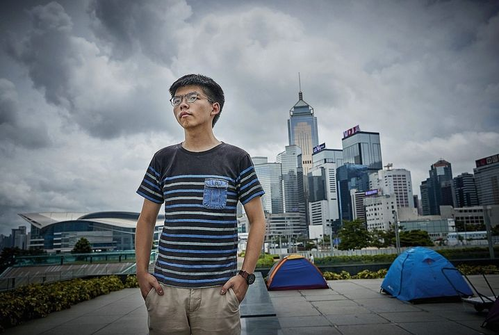 Hong Kong student leader Joshua Wong is a staunch opponent of the Greater Bay Area initiative.