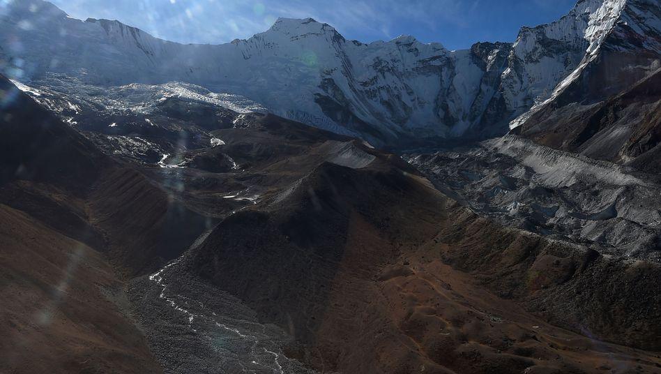 Gletscher in Nepal (im November 2018)