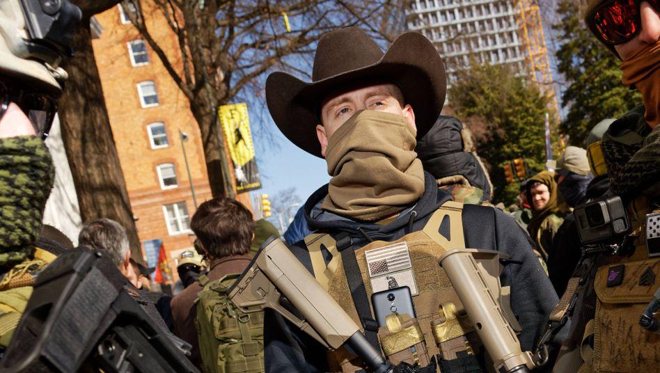 Demonstranten in Virginia: Gegen schärfere Gesetze
