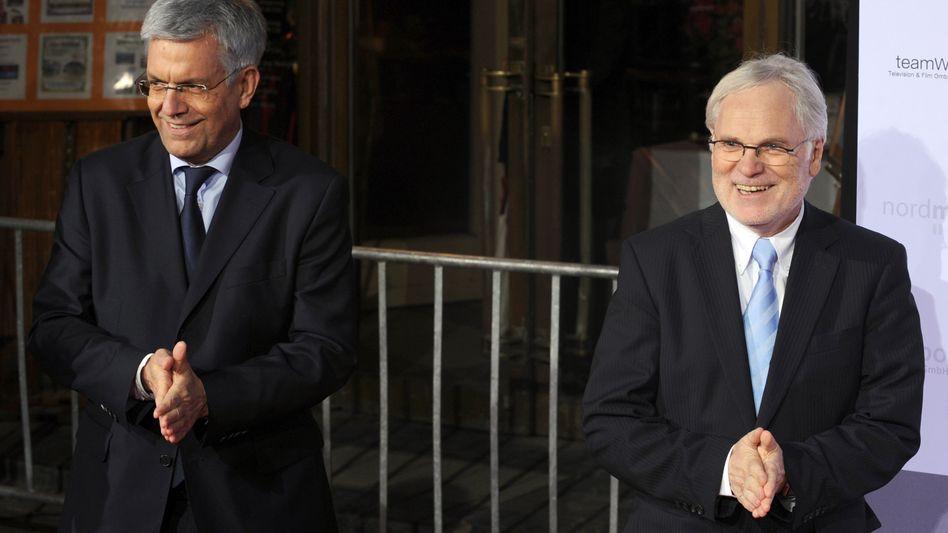ZDF-Programmdirektor Bellut, ZDF-Intendant Schächter: Alle Angebote kostenlos
