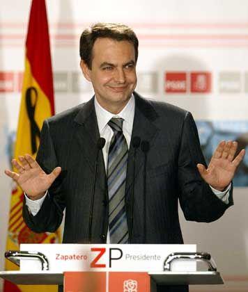 Spaniens Wahlsieger Zapatero: Gegen Irak-Einsatz ohne Uno-Mandat
