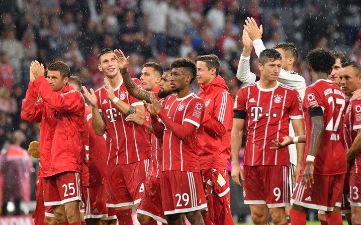 Erleichterte Bayern-Spieler