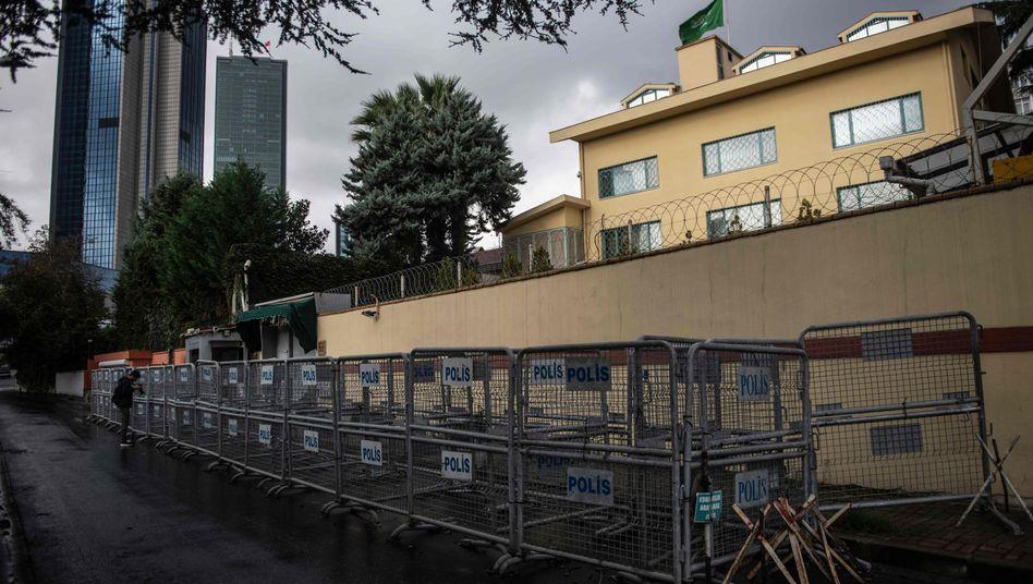 Saudi-arabisches Konsulat in Istanbul (Archivbild): Mord in der Auslandsvertretung