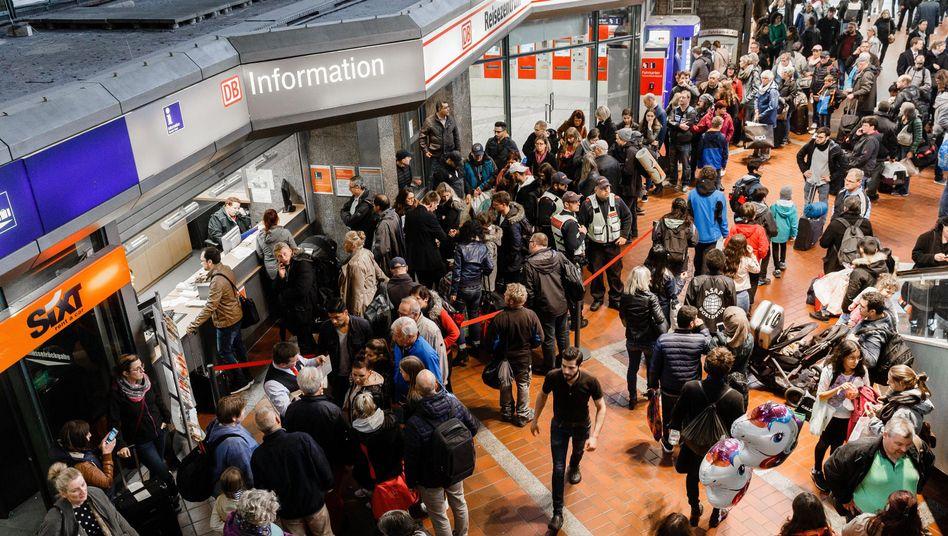Chaos am Hamburger Hauptbahnhof