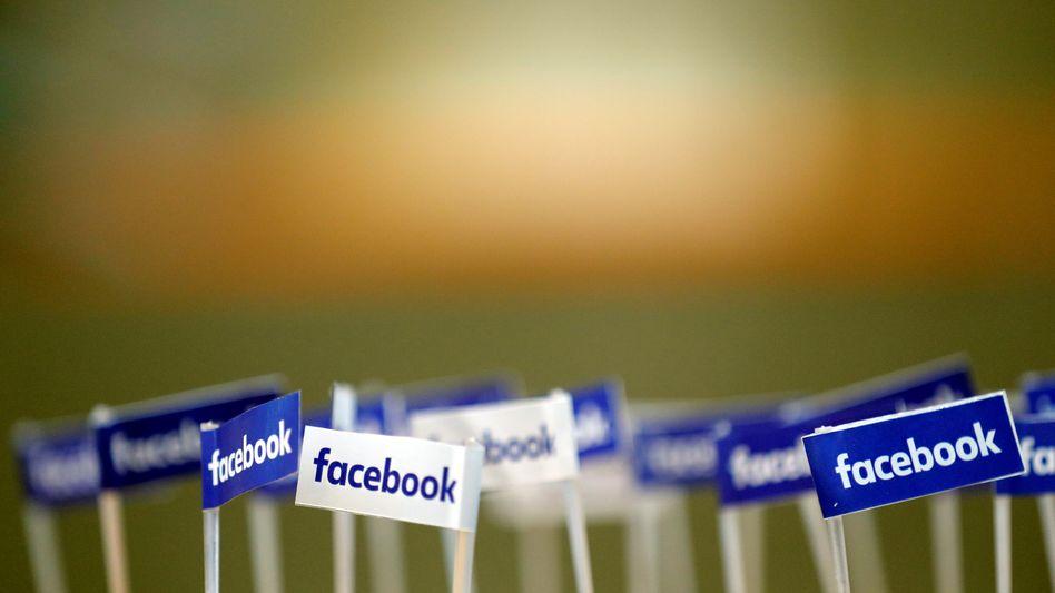Fähnchen mit Facebook-Logo