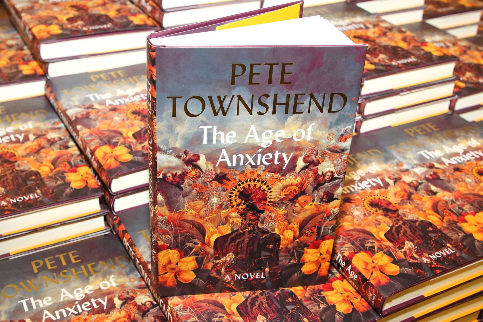 Pete Townshend - November 5, 2019, London, United Kingdom: Pete Townshend new novel, The Age of Anxiety, book is being displayed at Wate