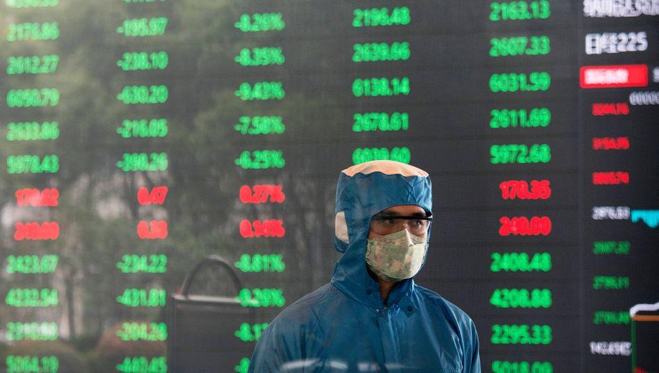 Börse in Shanghai: Selbst in China hat die Epidemie nicht zu einem Crash geführt