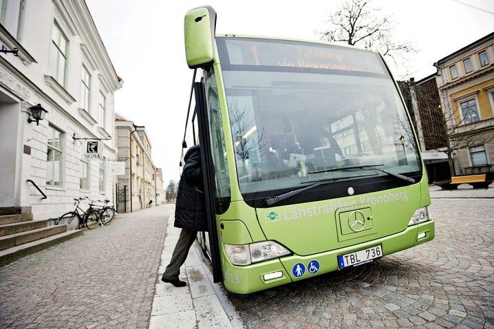 Bus in Vaexjoe: Bargeldloses Bezahlen bevorzugt