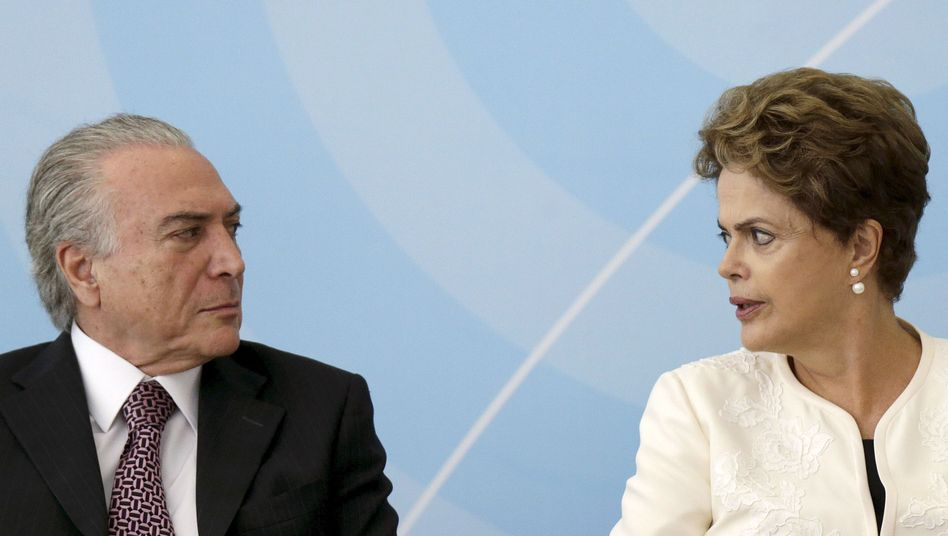 Michel Temer und Dilma Rousseff