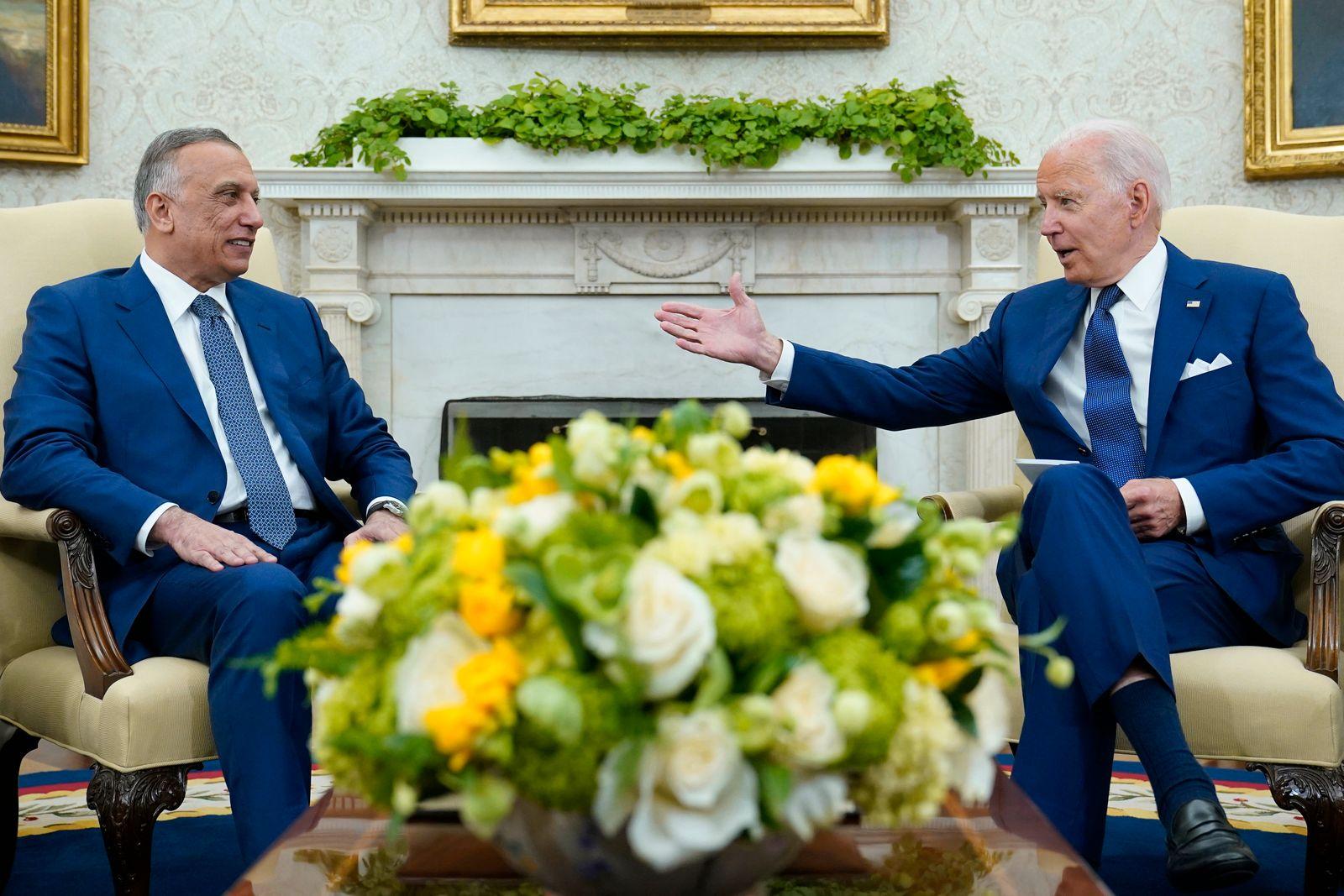 US Präsident Biden emfängt Iraks Ministerpräsidenten Al-Kasimi