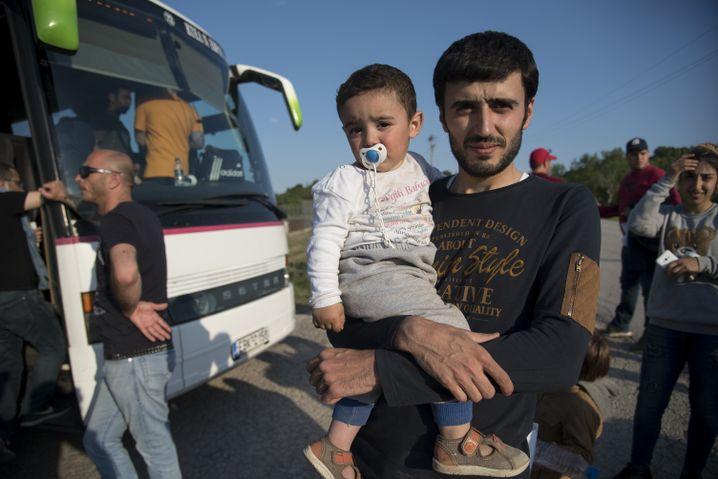 Mohamed mit seinem Kind