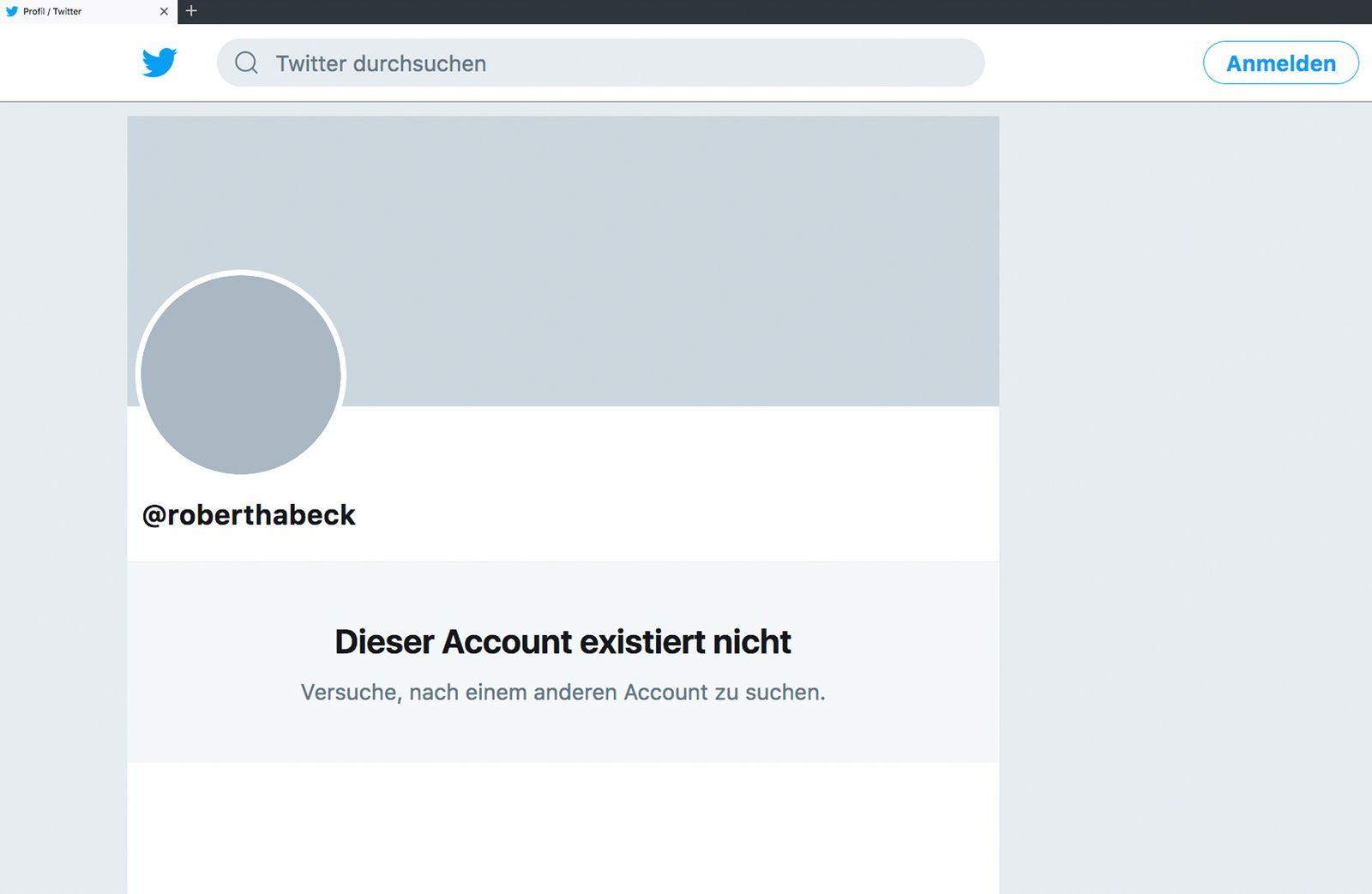 EINMALIGE VERWENDUNG Robert Habeck/ Twitter