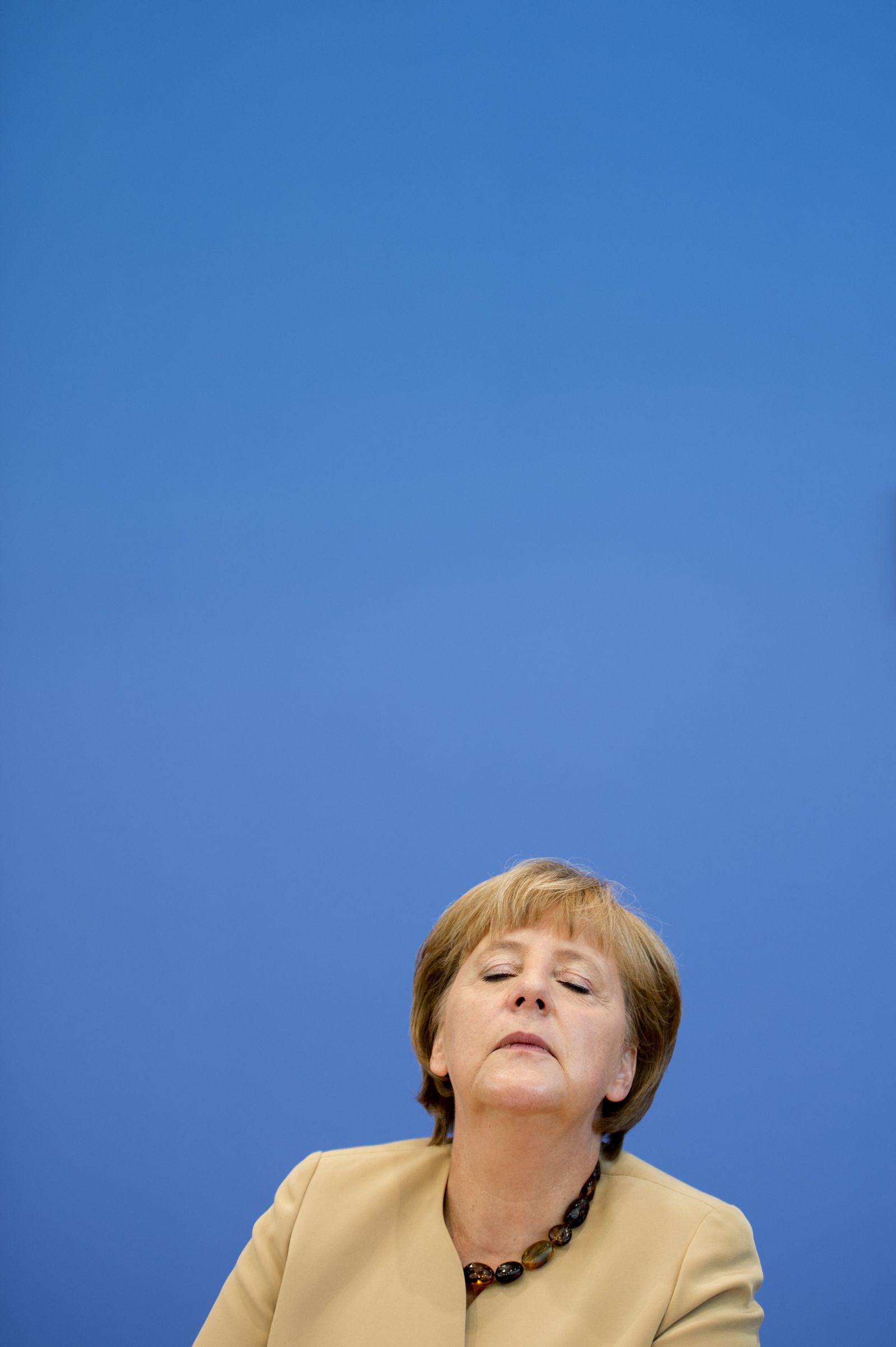 NICHT VERWENDEN Merkel/ Bundespressekonferenz