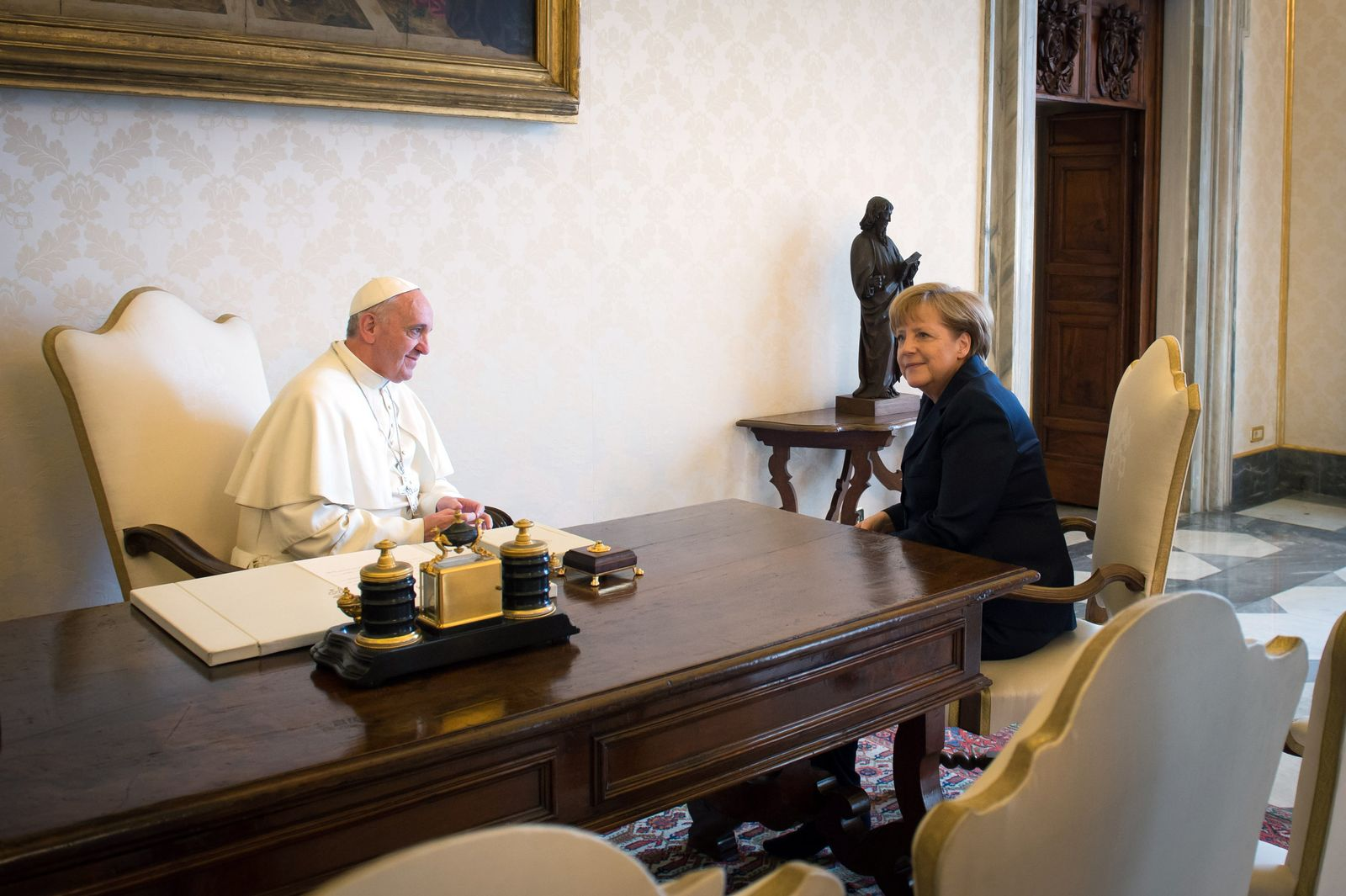 Merkel/ Papst Franziskus