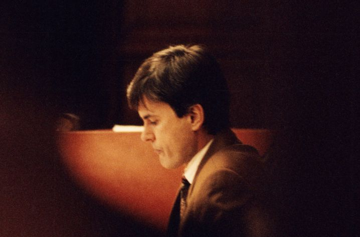 Angeklagter Ausonius in Stockholm 1995