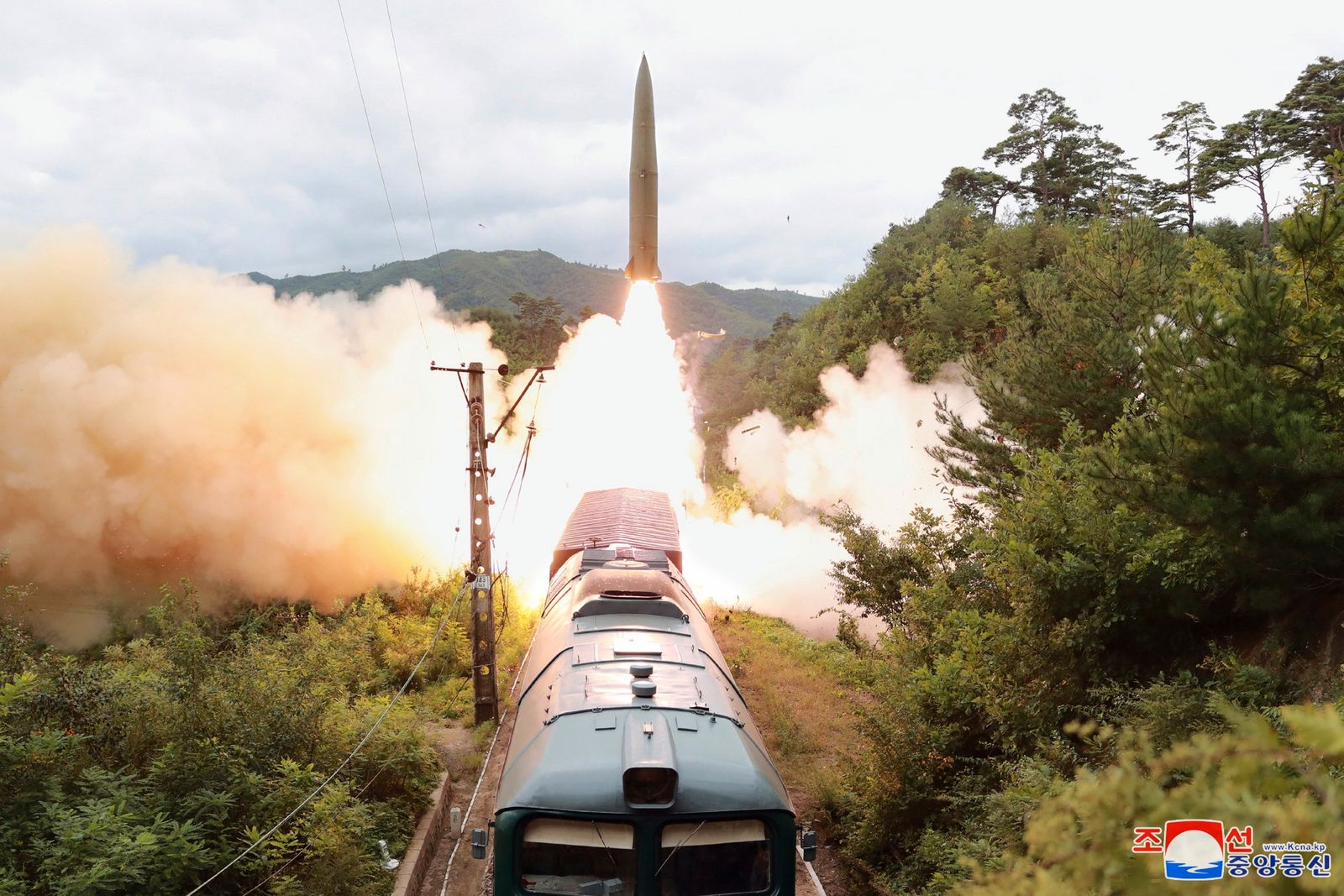 North Korea conducts test firing drill of railway-borne missile system