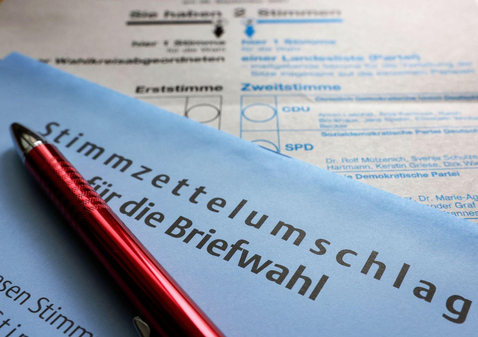 Bundestagswahl - Briefwahlunterlagen