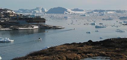 """Arktisches Meereeis vor der Grönländischen Küste (2008): """"Durchaus die Möglichkeit, dass wir die Rekordwerte von 2007 erreichen"""""""