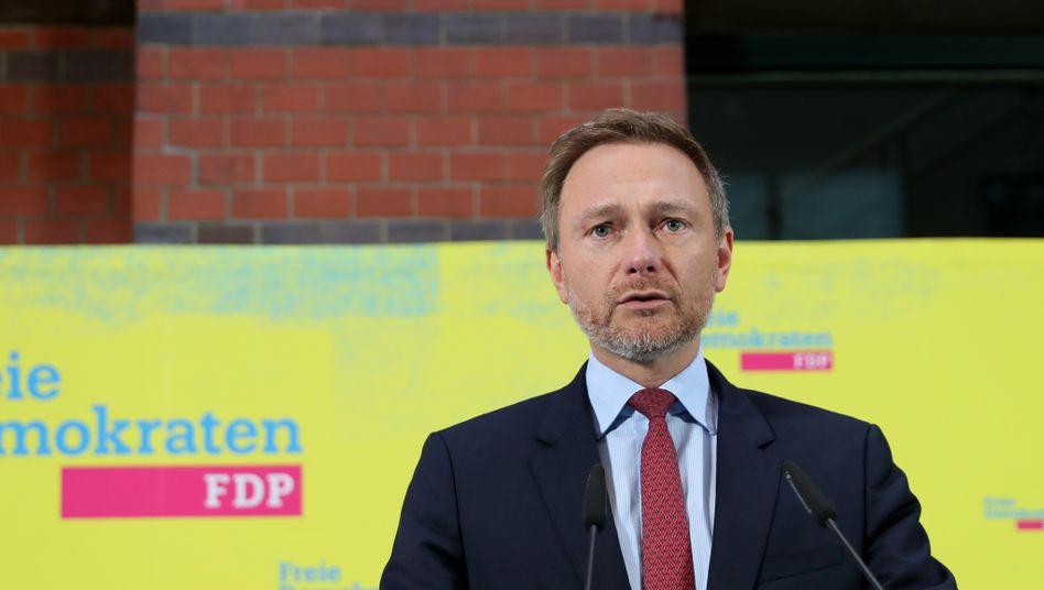 """Christian Lindner, FDP-Chef: Thomas Kemmerich habe """"seine Integrität verteidigt"""""""