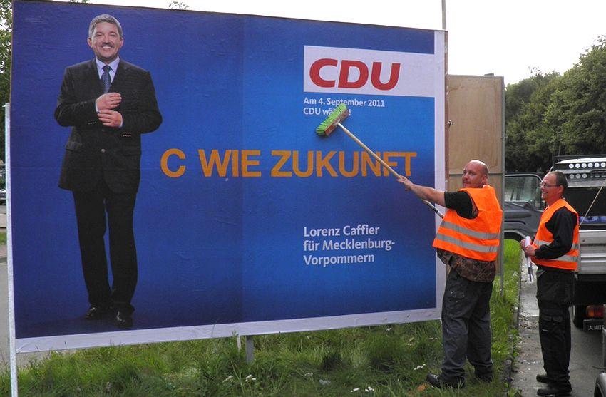 EINMALIGE VERWENDUNG CDU / MeckPomm / Lorenz Caffier