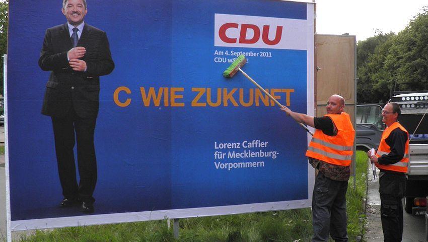 """Wahlplakat der CDU in Mecklenburg-Vorpommern: """"Es hat funktioniert"""""""
