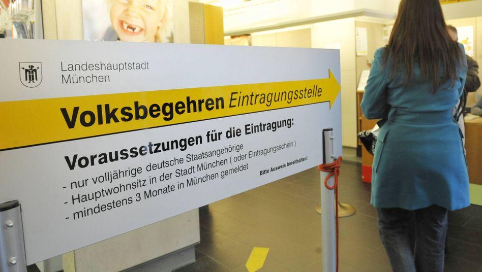 Volksbegehren (für echten Nichtraucherschutz in Bayern): Das Kreuz mit der Kippe