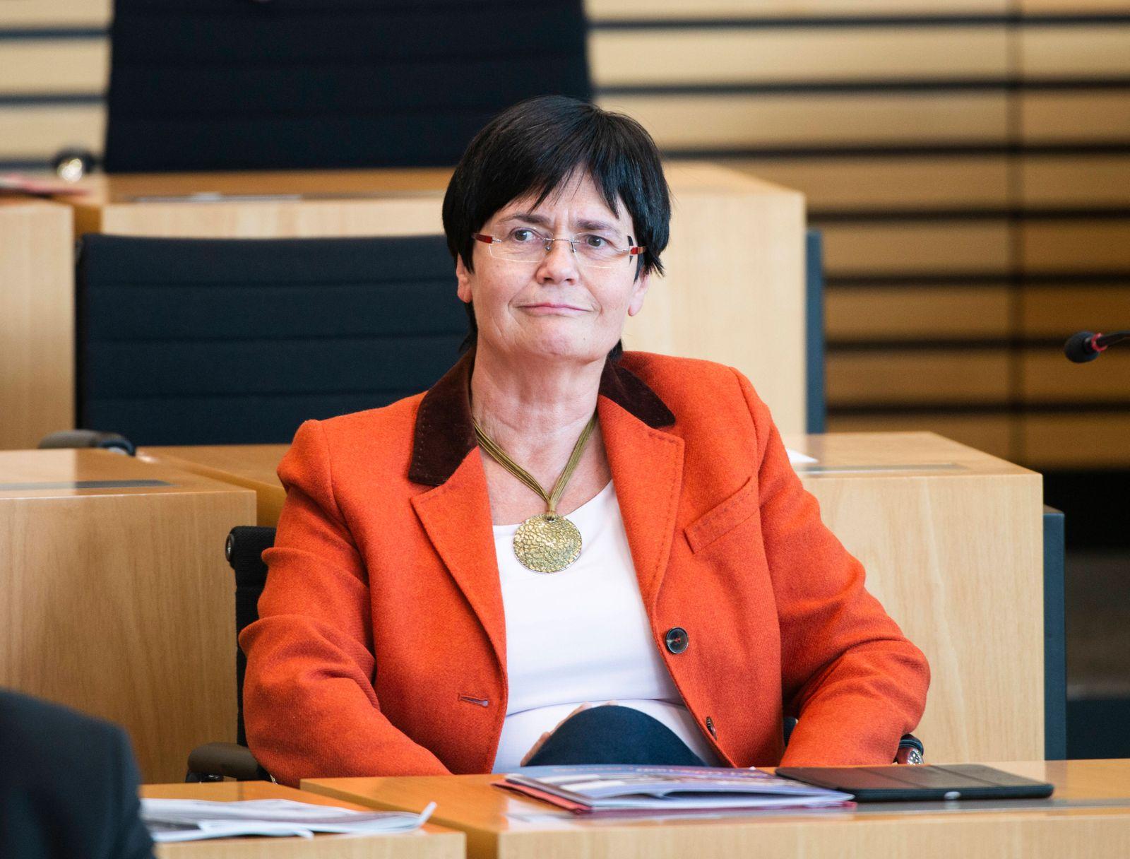 161. PLENARSITZUNG IM TH‹RINGER LANDTAG 01/10/2019 - Erfurt: Christine Lieberknecht (CDU) in der 161. Plenarsitzung des