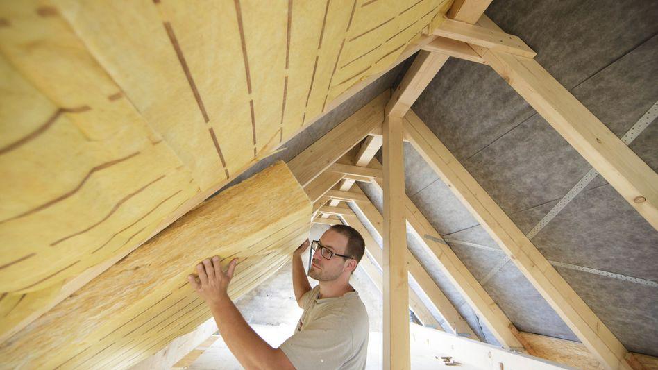 Dämmung eines Dachstuhls