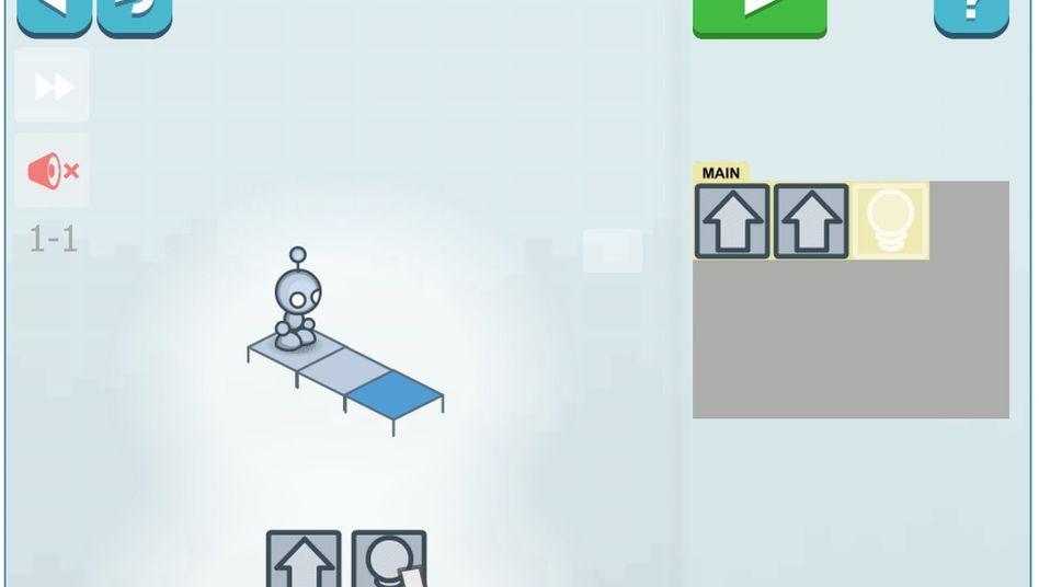 """Browser-Spiel """"Lightbot"""": Vorwärts, vorwärts, beleuchten - fertig!"""