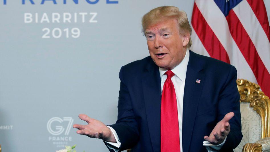 Trump sei überrascht gewesen, hieß es noch am Sonntag aus dem Weißen Haus