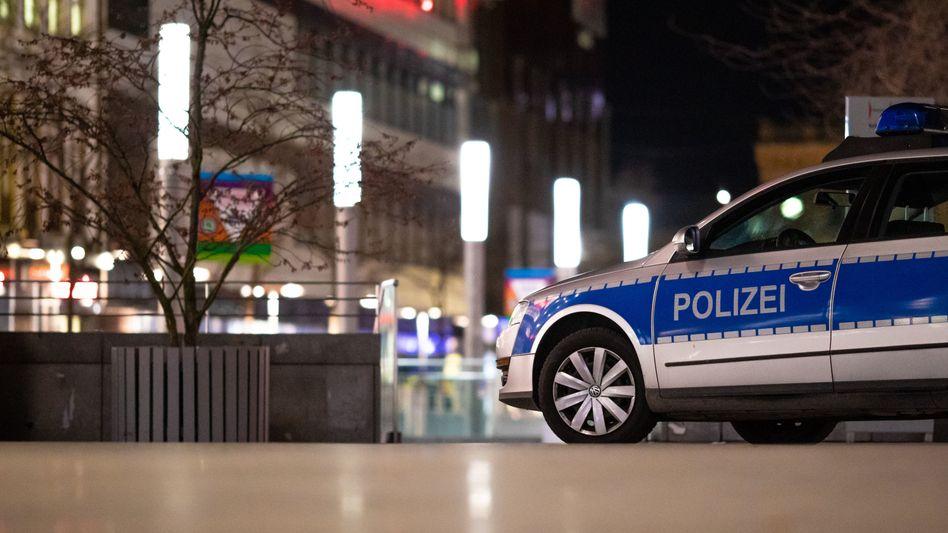 Polizeifahrzeug in Hannover