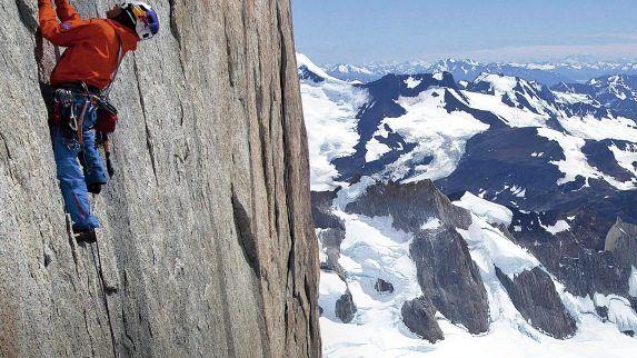 Alpinist Lama am Cerro Torre